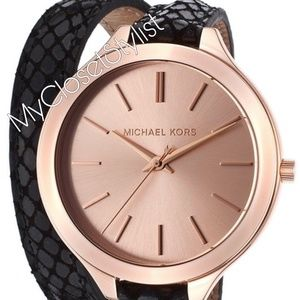 Michael Kors SLIM Wrap Leather Bracelet Mod Watch